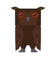 cute halloween owl cartoon character vector image