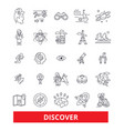 discover explorer find magnifying glass vector image vector image