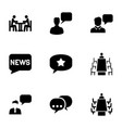 discussion icons vector image vector image