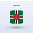 Dominica flag icon vector image vector image