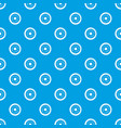 donut pattern seamless blue vector image vector image