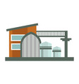 factory or plant isolated construction urban vector image