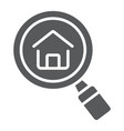 find real estate company glyph icon real estate vector image vector image