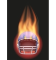 Football helmet with flame vector image