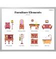 furniture elements flat pack vector image