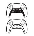 game controller symbol video gamepad logo vector image