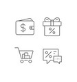 gift box discount and sale icons vector image