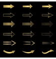 Golden Arrow set vector image vector image