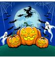 halloween theme pop art vector image vector image