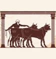 hercules kidnaps herd of gerion vector image