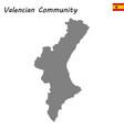 high quality map autonomous community of spain vector image vector image