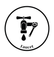Icon of wrench and faucet vector image vector image