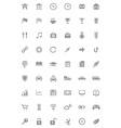 Icons and pictograms set vector image