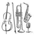 jazz musical instruments vector image