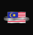 malaysia flag ribbon banner design vector image