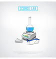 Minimalistic Lab Equipment Composition vector image
