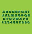 modern abstract alphabet font alphabet vector image vector image