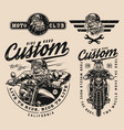 motorcycle vintage designs collection vector image vector image