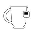 mug with tea bag icon image vector image vector image