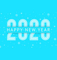 new year 2020 greeting card design 10eps vector image vector image