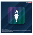 olympic torch icon vector image