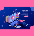 online tutorial web page template vector image vector image
