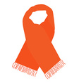 Orange winter scarf vector image