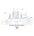 palma de mallorca city skyline vector image vector image