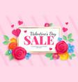 paper art valentines sale love celebration vector image