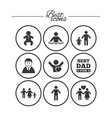 people family icons swimming pool sign vector image vector image
