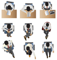 people sitting top view set 6 vector image vector image