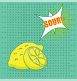 pop art lemon vector image