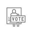 presidential election poster voting banners vector image