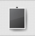realistic blank photo frame hanging vector image