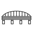 safe bridge icon outline style vector image vector image