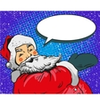 Santa claus in comic pop art vector image