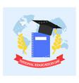 school education background in flat design vector image vector image