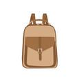 school knapsack vector image vector image