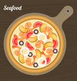 seafood pizza vector image vector image