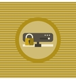 Server security flat icon vector image