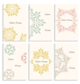 Set cards circular linear ornament monogram emblem vector image