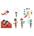 set of people using modern technologies vector image vector image