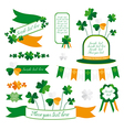 Set of St Patricks Day decorative elements vector image vector image