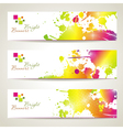 Set of three banners abstract headers with bright vector image vector image