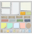 set various notes paper vector image vector image