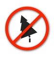 Sign prohibition deforestation vector image vector image