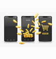 smartphone online shopping vector image