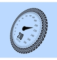 speedometer styling tire vector image