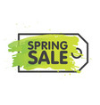 spring sale tag concept in painted brush vector image vector image