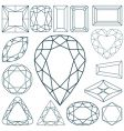 stone shapes vector image vector image